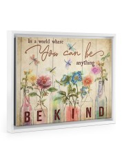 In a world where you can be anything 14x11 White Floating Framed Canvas Prints thumbnail