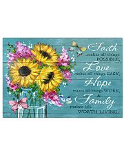 Faith - Love - Hope - Family 17x11 Poster front