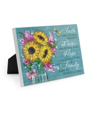 Faith - Love - Hope - Family 10x8 Easel-Back Gallery Wrapped Canvas thumbnail