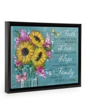 Faith - Love - Hope - Family 14x11 Black Floating Framed Canvas Prints thumbnail