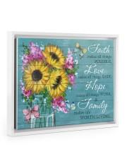 Faith - Love - Hope - Family 14x11 White Floating Framed Canvas Prints thumbnail