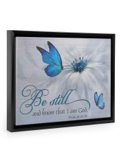 Be Still and Know That I Am God 14x11 Black Floating Framed Canvas Prints thumbnail