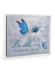 Be Still and Know That I Am God 14x11 White Floating Framed Canvas Prints thumbnail