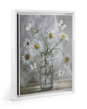 INHALE EXHALE 11x14 White Floating Framed Canvas Prints thumbnail