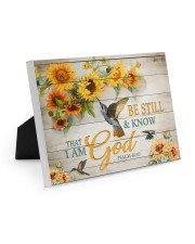 Be still and know that I am God Easel-Back Gallery Wrapped Canvas tile