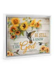 Be still and know that I am God Floating Framed Canvas Prints White tile