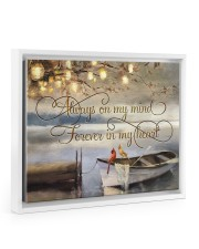 Always on my mind 14x11 White Floating Framed Canvas Prints thumbnail