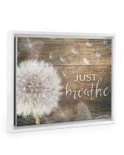 JUST BREATHE Floating Framed Canvas Prints White tile
