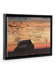 Our Family Floating Framed Canvas Prints Black tile