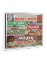 Pray Always Floating Framed Canvas Prints White tile