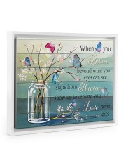 A friend shows up and reminds you every day 14x11 White Floating Framed Canvas Prints thumbnail