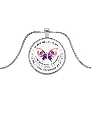 MY MIND STILL TALKS TO YOU  Metallic Circle Necklace front