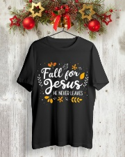 Fall for Jesus Classic T-Shirt lifestyle-holiday-crewneck-front-2