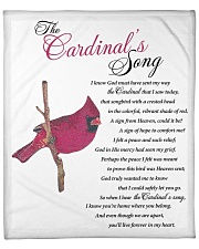"The Cardinal's Song Fleece Blanket - 50"" x 60"" front"