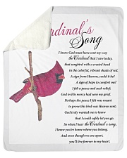 "The Cardinal's Song Sherpa Fleece Blanket - 50"" x 60"" thumbnail"