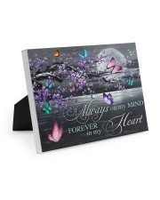 Always on my Mind - Forever in my Heart 10x8 Easel-Back Gallery Wrapped Canvas thumbnail