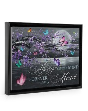 Always on my Mind - Forever in my Heart 14x11 Black Floating Framed Canvas Prints thumbnail