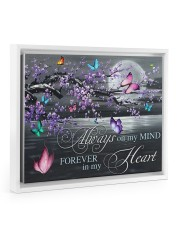 Always on my Mind - Forever in my Heart 14x11 White Floating Framed Canvas Prints thumbnail