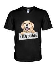 life is golden V-Neck T-Shirt thumbnail
