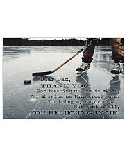 Dear Dad Thanks For Everything Hockey 17x11 Poster front