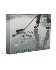 Dear Dad Thanks For Everything Hockey 14x11 Gallery Wrapped Canvas Prints thumbnail
