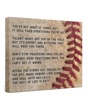 Motivational Baseball Canvas Nhg07 24x20 Gallery Wrapped Canvas Prints front