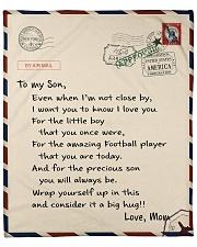 Football Letter Blanket Fleece Blanket tile