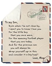 """Football Letter Blanket Sherpa Fleece Blanket - 50"""" x 60"""" thumbnail"""