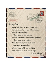 "Football Letter Blanket Quilt 40""x50"" - Baby thumbnail"
