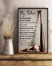 My father is the bones of my spine 11x17 Poster lifestyle-poster-3