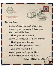 Hockey Mom and Dad Letter Blanket Fleece Blanket tile