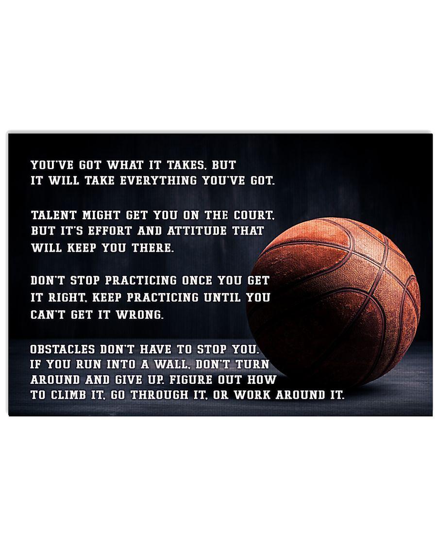 Motivational Basketball Nhg07 17x11 Poster