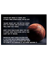 Motivational Basketball Nhg07 17x11 Poster front