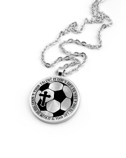 Your Talent Is God's Gift To You Soccer Nhg07 Metallic Circle Necklace aos-necklace-circle-metallic-lifestyle-05