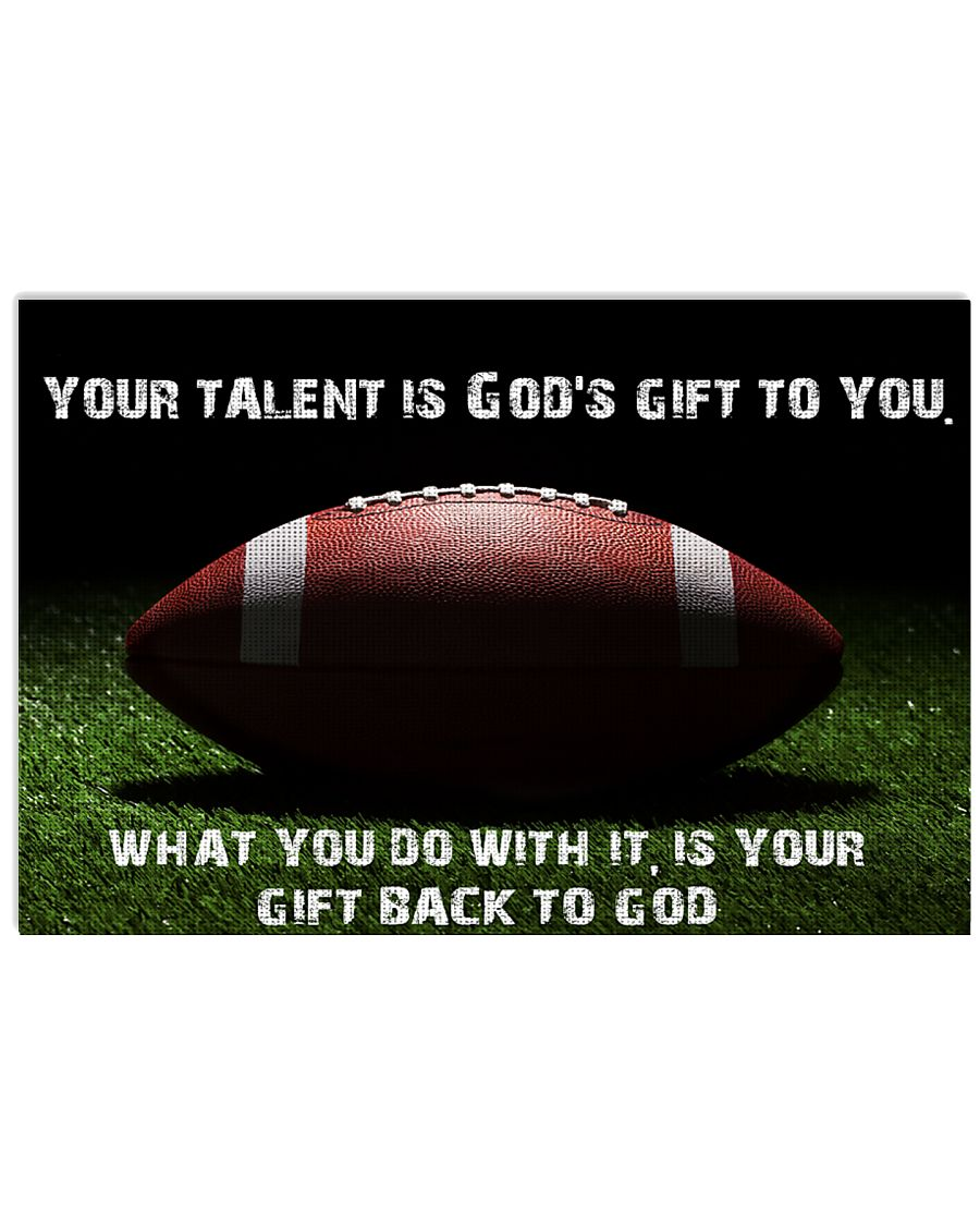 Your talent is God's gift to you 36x24 Poster