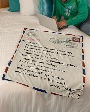 "Baseball Letter Blanket Dad Ver Nhg07 Small Fleece Blanket - 30"" x 40"" aos-coral-fleece-blanket-30x40-lifestyle-front-07"