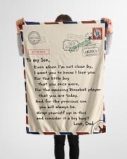 "Baseball Letter Blanket Dad Ver Nhg07 Small Fleece Blanket - 30"" x 40"" aos-coral-fleece-blanket-30x40-lifestyle-front-14"