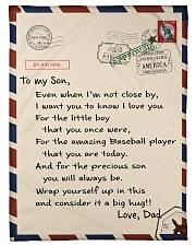 "Baseball Letter Blanket Dad Ver Nhg07 Small Fleece Blanket - 30"" x 40"" front"