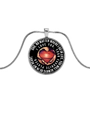 My Dad Will Always Be In My Heart Necklace Nhg07 Metallic Circle Necklace front