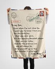 "Baseball Letter Blanket Nhg07 Small Fleece Blanket - 30"" x 40"" aos-coral-fleece-blanket-30x40-lifestyle-front-14"