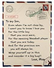 """Baseball Letter Blanket Nhg07 Small Fleece Blanket - 30"""" x 40"""" front"""