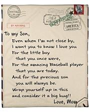 Baseball Letter Blanket Nhg07 Fleece Blanket tile