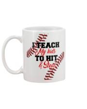 I Teach My Kids To Hit And Steal Nhg07 Mug back