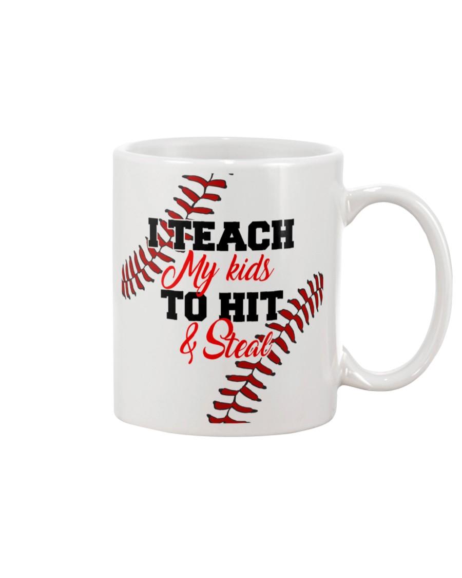 I Teach My Kids To Hit And Steal Nhg07 Mug