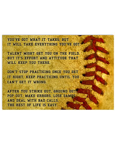 Motivational Softball Poster Nhg07