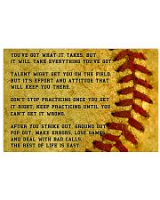 Motivational Softball Poster Nhg07 17x11 Poster front