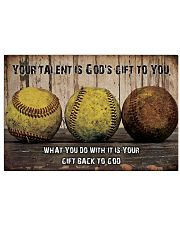 Your talent is God's gift to you ncl04 17x11 Poster front