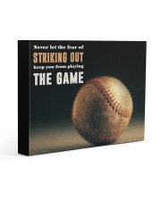 Never Let The Fear Of Striking Out  Gallery Wrapped Canvas Prints tile