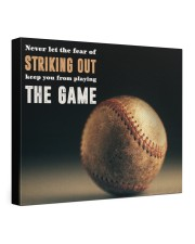 Never Let The Fear Of Striking Out  24x20 Gallery Wrapped Canvas Prints front