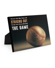 Never Let The Fear Of Striking Out  10x8 Easel-Back Gallery Wrapped Canvas thumbnail